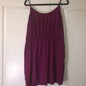 Purple/Maroon spaghetti strap dress